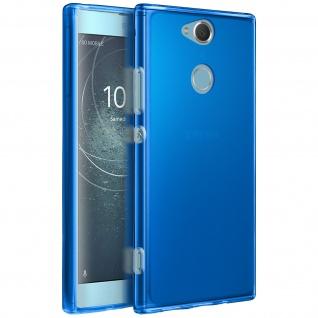 Gelhülle, Backcover für Sony Xperia XA2, Anti-Fingerabdruck, flexibel - Blau - Vorschau 2