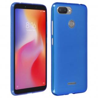Gelhülle, flexibles Backcover für Xiaomi Redmi 6 / 6A, frosted case - Blau