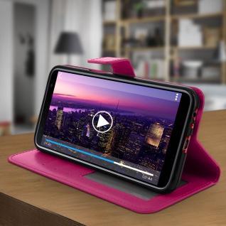 Flip Cover Stand Case Brieftasche & Standfunktion für Galaxy J6 Plus - Rosa - Vorschau 3