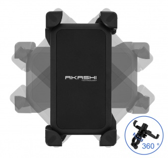 Fahrrad-Halterung für Smartphones 185x95mm, 360° drehbare Halterung, Akashi