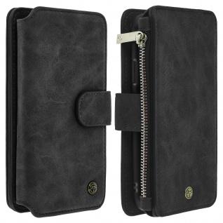 Apple iPhone X/XS Klappetui mit abnehmbarer Handyhülle, Brieftasche - Schwarz