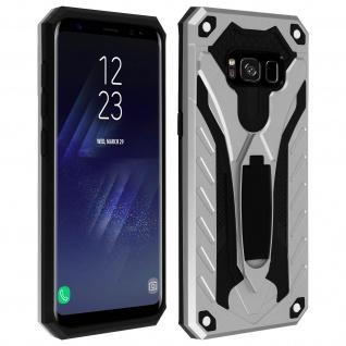 Samsung Galaxy S8 Plus Hybrid stoßfeste Schutzhülle mit Ständer - Silber