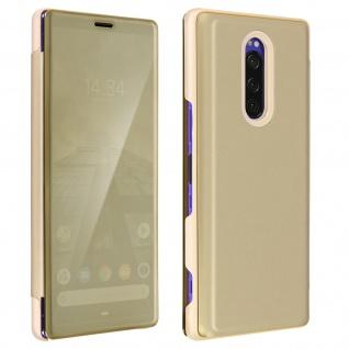 Sony Xperia 1 Flip Cover mit Spiegeleffekt & Standfunktion - Gold