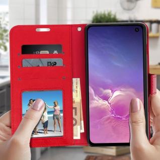 Flip Stand Cover Brieftasche & Standfunktion für Samsung Galaxy S10e - Rot - Vorschau 3