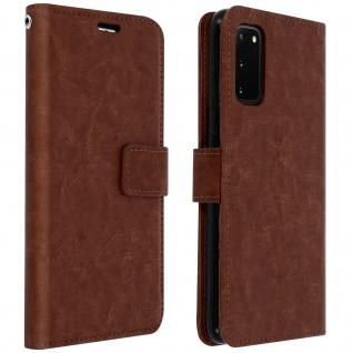 Flip Cover Stand Case Brieftasche & Standfunktion Samsung Galaxy S20 - Braun