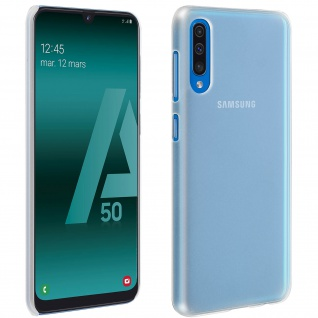 Hardcase, Schutzhülle aus Polycarbonat Samsung Galaxy A50, frosted case - Weiß