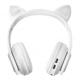 Katzenohren kabellose 5.0 Bluetooth Kopfhörer, Kitty Headset ? Weiß - Vorschau 2