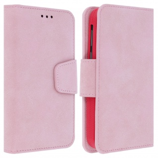 """Universal Klapphülle, Etui mit Geldbörse für 5.5"""" Smartphones, Größe XL - Rosa"""
