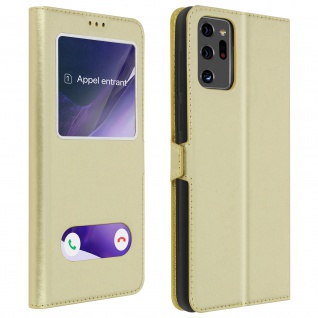 Samsung Galaxy Note 20 Ultra Flip Cover Doppelfenster & Standfunktion ? Gold