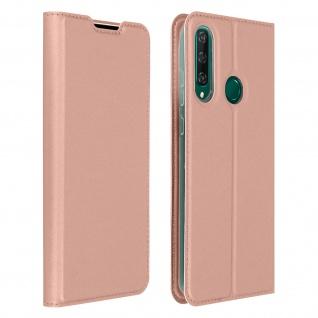 Klappetui mit Kartenfach & Standfunktion Huawei Y6p - Rosa