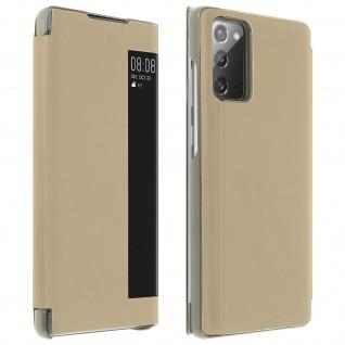 Window View Klapphülle, Etui mit Sichtfenster für Samsung Galaxy Note 20 ? Gold
