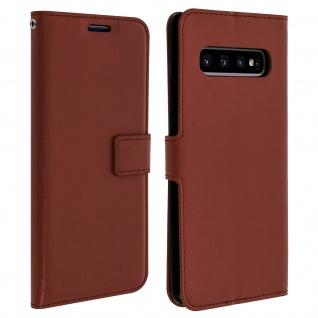 Flip Stand Cover Brieftasche & Standfunktion für Samsung Galaxy S10 Plus - Braun