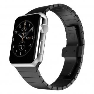 Apple Watch 42 / 44mm Armband, Edelstahl Armbanduhr ? Schwarz