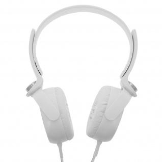 Audio Headset mit 3.5mm Klinkenstecker, EP17 Kopfhörer - Weiß / Silber