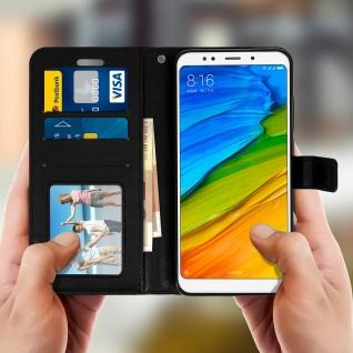 Flip Cover Stand Case Brieftasche & Standfunktion für Xiaomi Redmi 5 - Schwarz - Vorschau 3