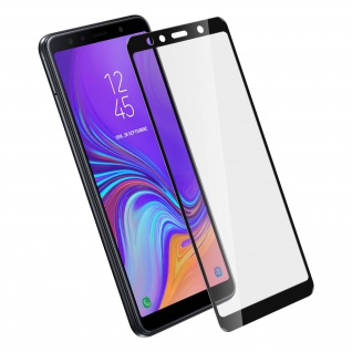Displayschutzfolie, 9H 11D Schutzfolie für Samsung Galaxy A7 2018 Schwarz