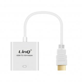 Audio- & Video Adapter HDMI männlich / VGA weiblich by LinQ ? Weiß