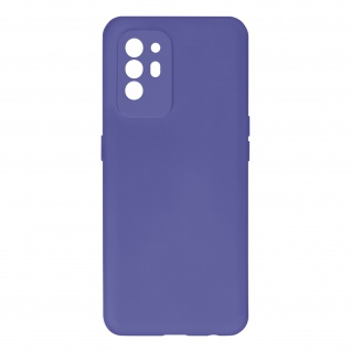Halbsteife Silikon Handyhülle für Oppo A94 5G, Soft Touch ? Violett
