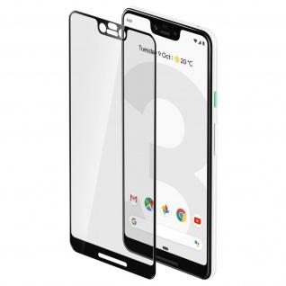 Displayschutzfolie aus Glas Google Pixel 3 XL, bruchsicher & kratzfest - Schwarz