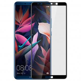 Bruchsichere Glas Displayschutzfolie voller Schutz Huawei Mate 10 Pro - Schwarz