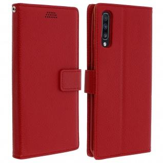 Samsung Galaxy A70 Flip-Cover mit Kartenfächern & Standfunktion - Rot