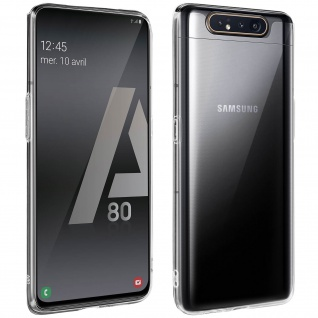 360° Protection Pack für Galaxy A80: Cover+ Displayschutzfolie, Transparent - Vorschau 1