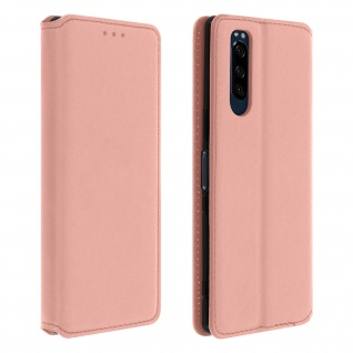 Kunstleder Cover Classic Edition Sony Xperia 5 - Rosegold