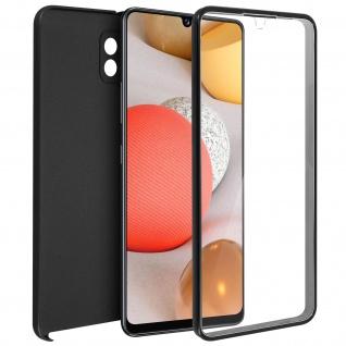 Schutzhülle für Samsung Galaxy A42 5G, Vorder- + Rückseite ? Schwarz