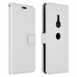 Flip Stand Cover Brieftasche & Standfunktion Sony Xperia XZ3 - Weiß
