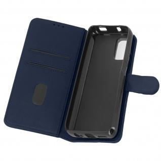 Flip Cover Geldbörse, Etui Kunstleder für Xiaomi Redmi Note 10 â€? Dunkelblau