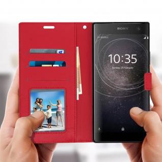 Flip Stand Cover Brieftasche & Standfunktion Sony Xperia XA2 Plus - Rot - Vorschau 4