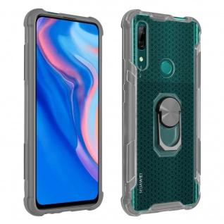 Hybrid Handyhülle mit Ring Huawei P Smart Z/Y9 Prime 2019, Honor 9X - Grau