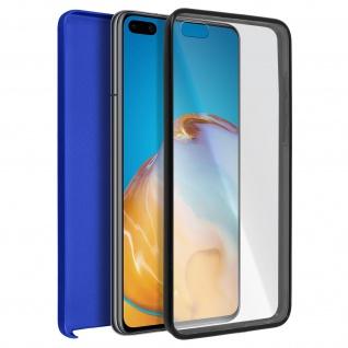 Schutzhülle für Huawei P40 Pro, Vorder- + Rückseite ? Blau