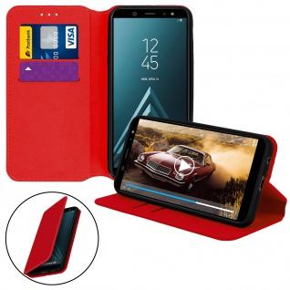 Flip Kunstleder Cover Geldbörse Classic Edition Samsung Galaxy A6 - Rot