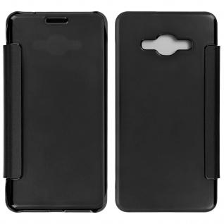 Schwarze Clear View Schutzhülle für Samsung Galaxy J3