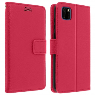 Huawei Y5p Flip-Cover mit Kartenfächern & Standfunktion - Rosa