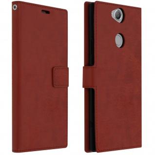 Flip Stand Cover Brieftasche & Standfunktion Sony Xperia XA2 Plus - Braun - Vorschau 1