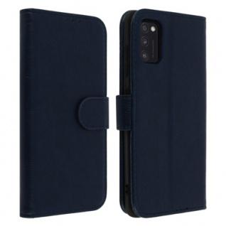 Flip Cover Geldbörse, Klappetui Kunstleder für Samsung Galaxy A41 ? Blau