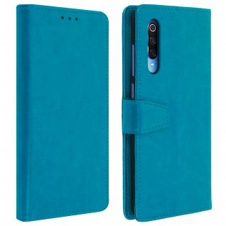 Flip Stand Cover Brieftasche & Standfunktion für Xiaomi Mi 9 - Blau