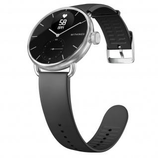 Withings Gesundheits-Wearable Scanwatch, 38mm Armband mit EKG und SpO2 - Schwarz