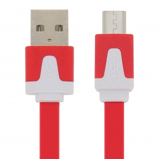 USB/ Micro-USB verwicklungsfreies Ladekabel - Aufladen / Synchronisierung - Rot