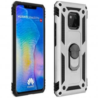 Hybrid Handyhülle mit Ring Halterung für Huawei Mate 20 Pro - Silber
