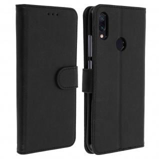 Flip Cover Geldbörse, Klappetui Kunstleder für Xiaomi Redmi Note 7 ? Schwarz