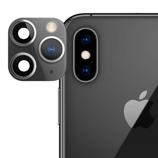 Apple iPhone 11 Pro schwarzer Fake Kamera Aufkleber für die Rückkamera aus Glas