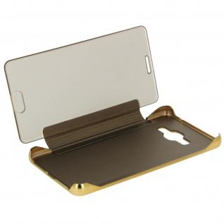 Goldene Clear View Schutzhülle für Samsung Galaxy J3 - Vorschau 2
