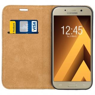Samsung Galaxy A3 2017 Flip Cover Kartenfach mit Magnetverschluss - Schwarz - Vorschau 3