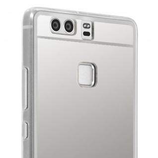 Unverbrüchliche Schutzhülle mit Spiegeleffekt für Huawei P9 - Silber - Vorschau 5