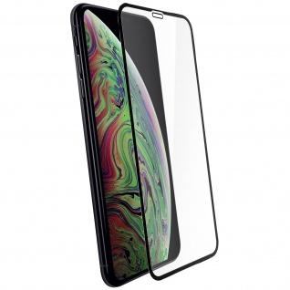 Apple iPhone XS MAX Displayschutzfolie aus Glas mit abgerundeten Kanten Schwarz