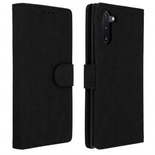 Flip Cover Geldbörse, Klappetui Kunstleder für Samsung Galaxy Note 10 â€? Schwarz