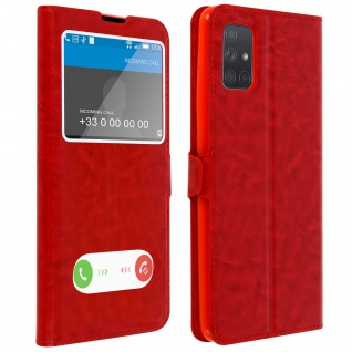 Samsung Galaxy A71 Flip Cover Doppelfenster & Standfunktion ? Rot